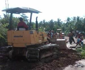 kelapa sawit, sukadana, pembangunan jalan, pontianak, kalbar